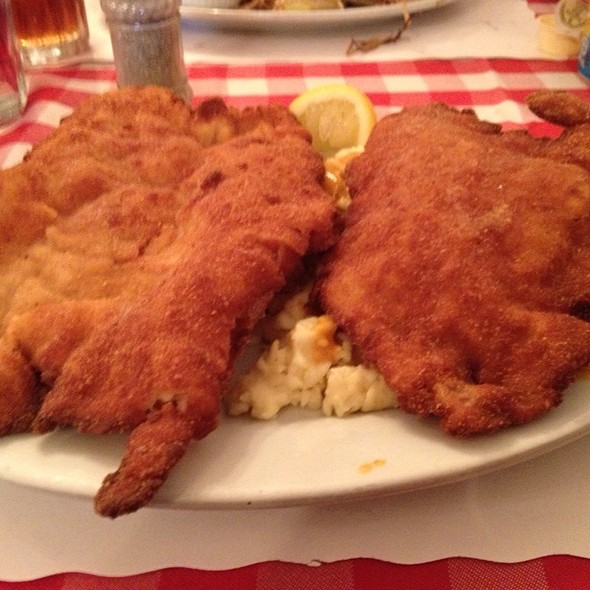 Veal Wiener Schnitzel With Potato Dumplings