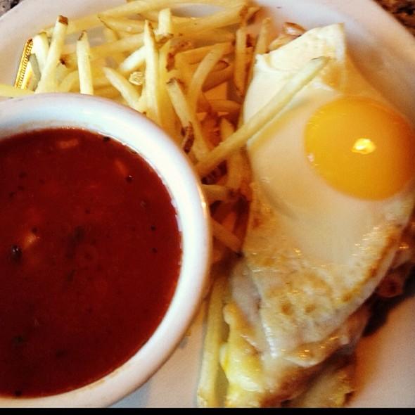 Croque Madame & Chilled Gazpacho - La Baguette Bistro, Oklahoma City, OK