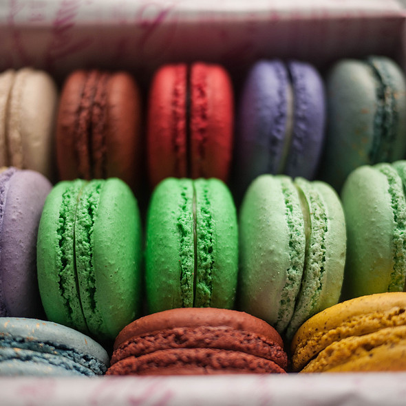 Macarons @ Bottega Louie Restaurant and Gourmet Market