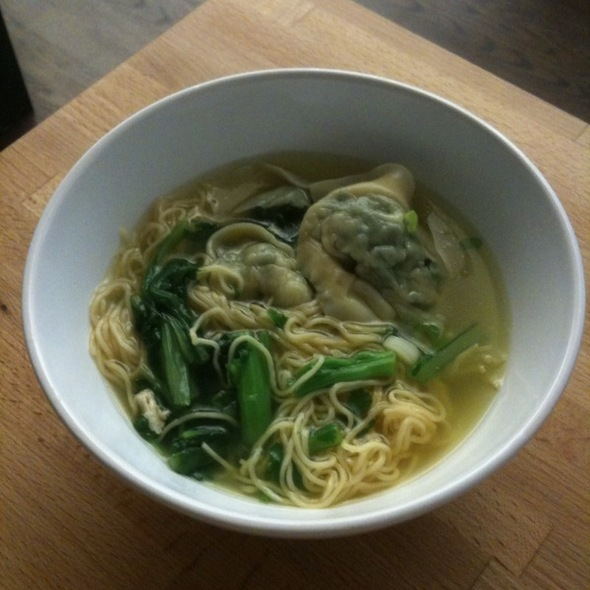 Snow Pea Wonton Soup @ Mooncake Foods