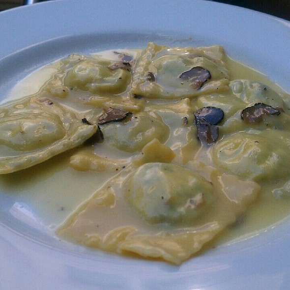 Spinach And Ricotta Ravioli With Black Summer Truffle - Baci Abbracci, Brooklyn, NY