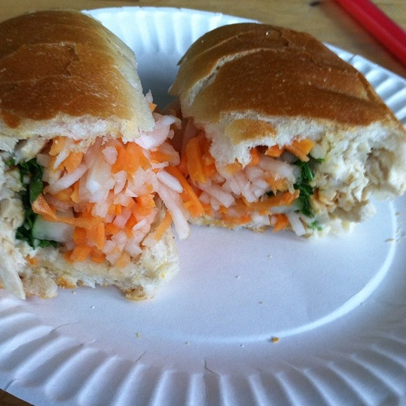 Shredded Chicken Banh Mi