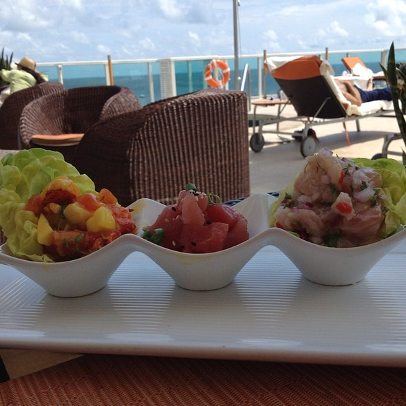 Ceviche Sampler - Panorama Restaurant & Sky Lounge at Sonesta Bayfront Hotel Coconut Grove, Coconut Grove, FL