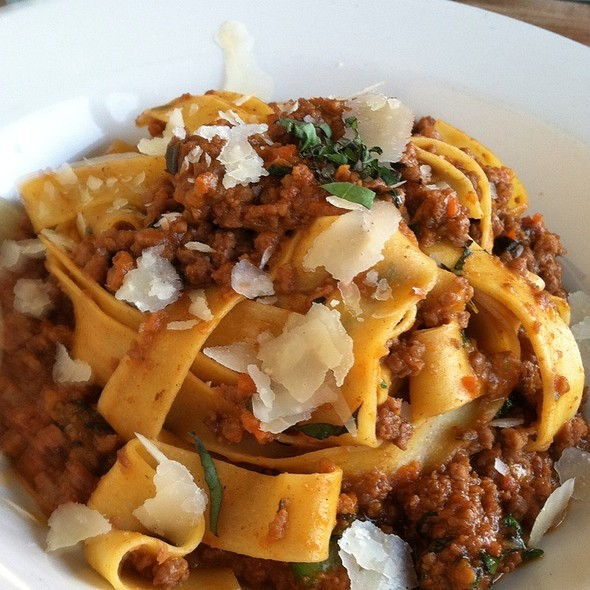 Pappardelle With Bolognese Sauce - The Blue Pig Tavern, Cape May, NJ