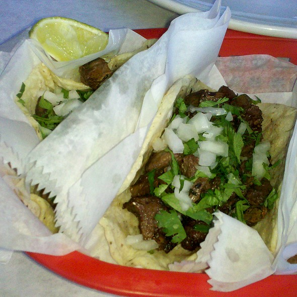 Skirt Steak Tacos @ La Lagartija Taqueria