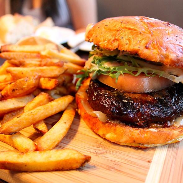 Kobe Beef Burger with Foie Gras - Brasserie 701, Montréal, QC