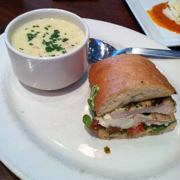 Tuscan Chicken Sandwich And Clam Chowder @ Not Your Average Joes