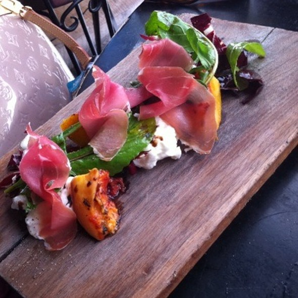 Burrata with Peaches @ Gjelina