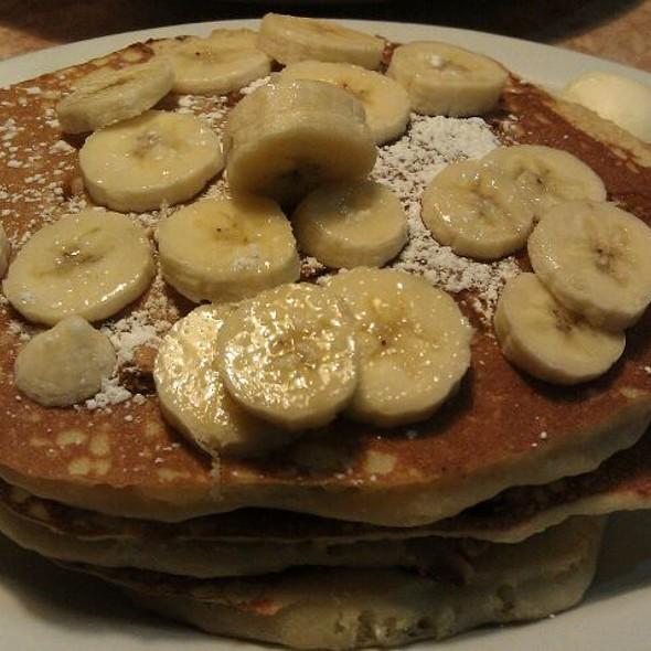 Peanut Butter Banana Pancakes @ Brownstone Diner & Pancake Factory