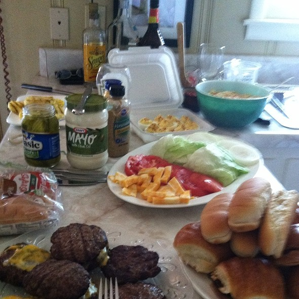 Grilled Burgers  @ Bobo Home