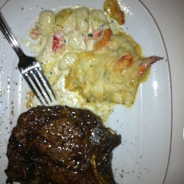 Ribeye Steak, Black Truffle Gnocchi, Lobster Mashed Potatoes