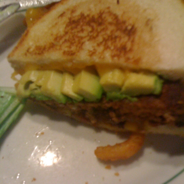 Avocado hamburger @ Mel's Drive-In