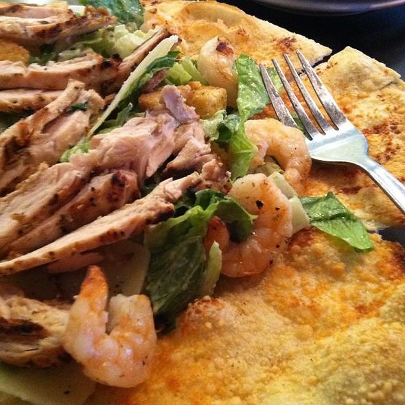 Grilled Chicken & Shrimp Caesar Salad Pizza @ California Pizza Kitchen