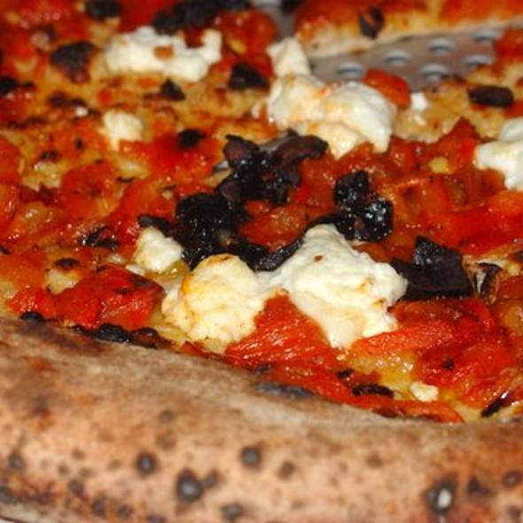 Pizza Putanesca Detail - Cupola Pizzeria, San Francisco, CA