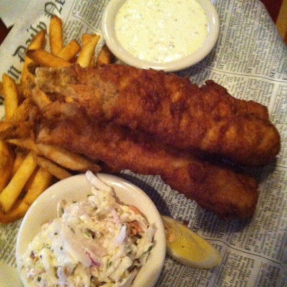 Fish and Chips Platter @ Fox and Hound English Pub & Grill