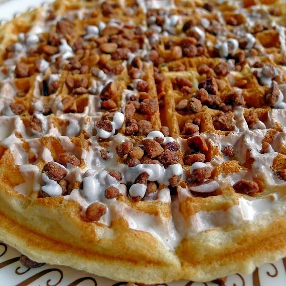 Cinnamon Praline Waffle at Waffle House
