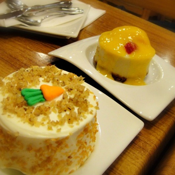 Carrot Cake and Coconut Mango Cheesecake @ Chef Robert's Restaurant