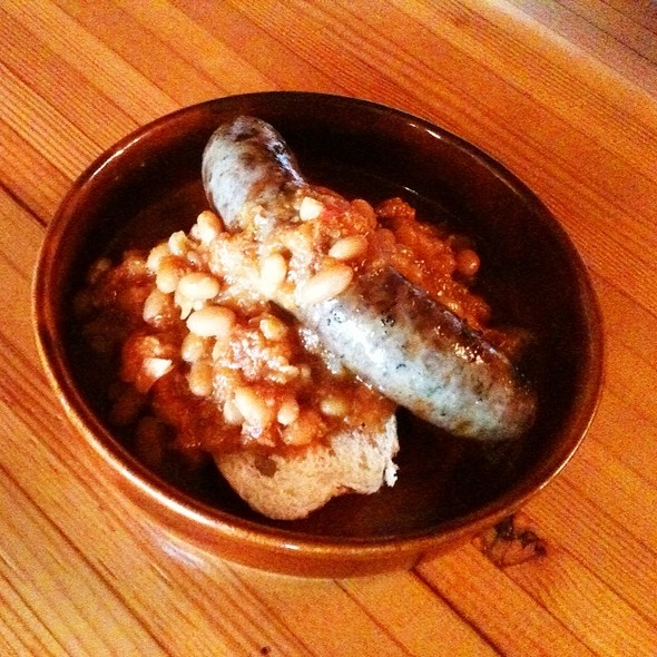 Lamb Sausage & Maple Baked Beans On Toast - Plank Restobar, Oakville, ON