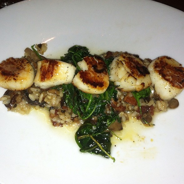 Pan Seared Scallops Over A Bead Of Mushroom And Bacon Rissoto  - Barrett's Grill, Hunt Valley, MD