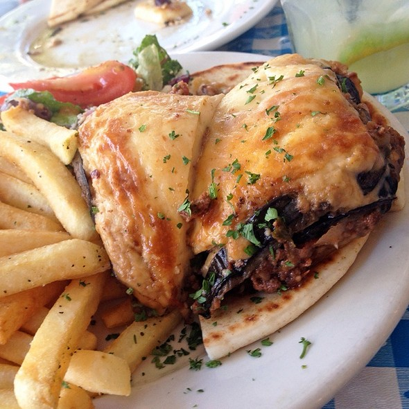 Moussaka - George's Greek Cafe - Pine Street, Long Beach, CA