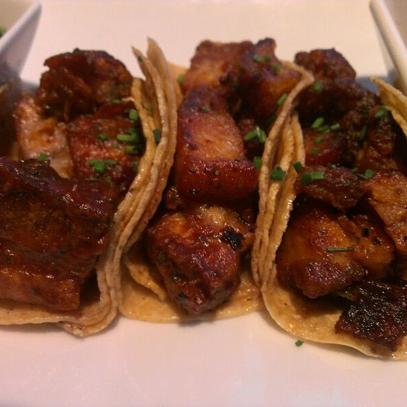 Crispy Pork Belly Tacos @ Mestizo