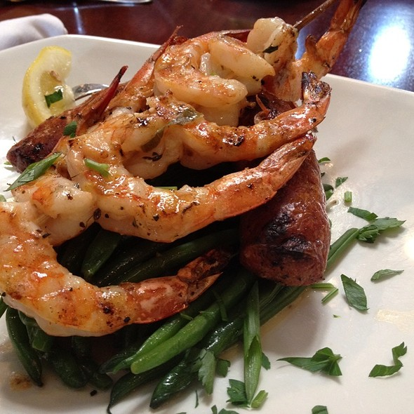 Grilled Shrimp And Andoullie Sausage @ Pappadeaux Seafood Kitchen