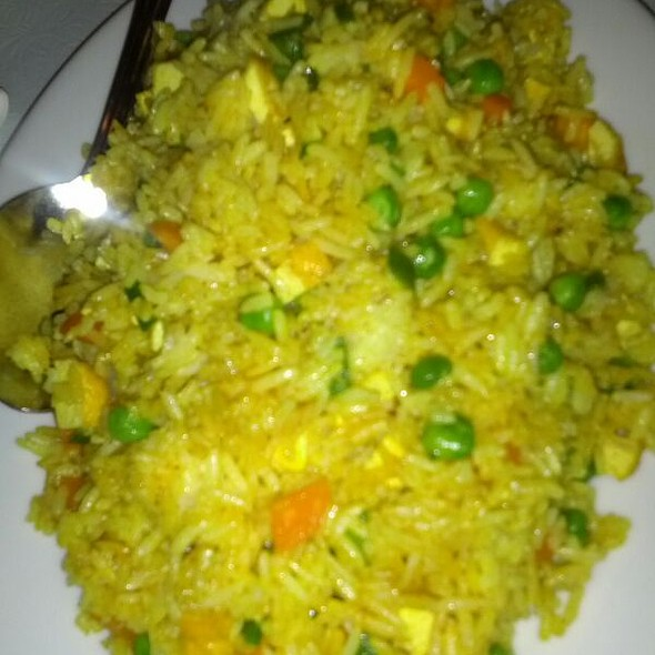 Indian Curry Fried Rice  @ Loving Hut