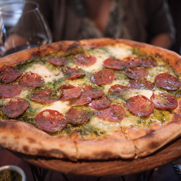 Schiacciata Pesto e Salame - Donato Enoteca, Redwood City, CA
