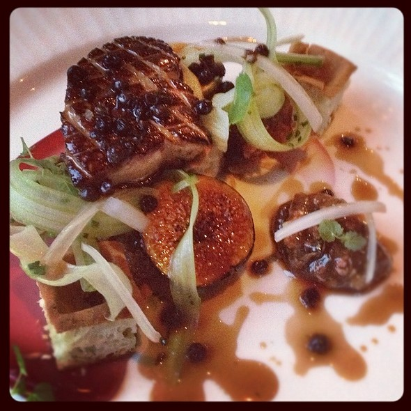 Seared Foie Gras With Savory Waffles @ The Fearrington House Restaurant
