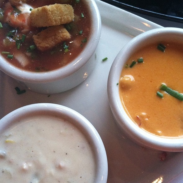 Best Of Soup - Tomato Gazpacho, Clam Chowder, & Lobster Bisque - Chart House Restaurant - Portland, Portland, OR
