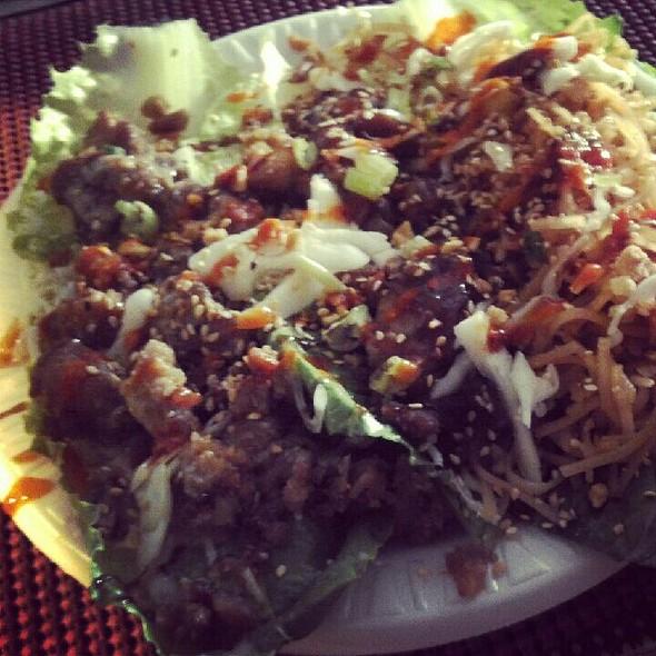 Three Types Of Lettuce Wraps @ Thai Cabin Cart