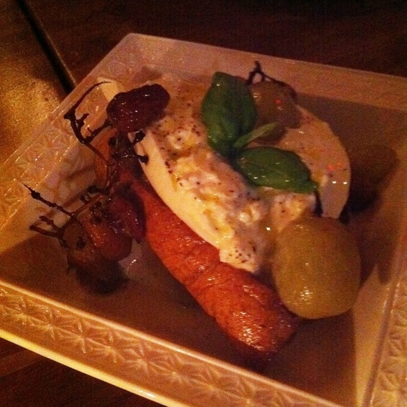 Fresh Burrata and Roasted Grapes with Bread @ Campagnolo