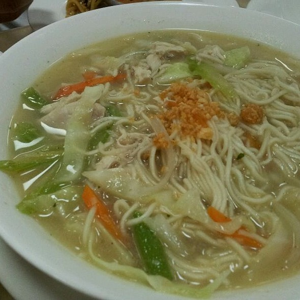 Chicken Mami Noodle Soup w/Vegetable (Filipino Food) @ Qatar Bowling Centre