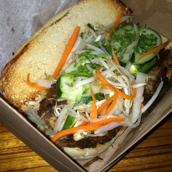 Pulled Pork Bahn Mi Sandwich - Sava's, Ann Arbor, MI