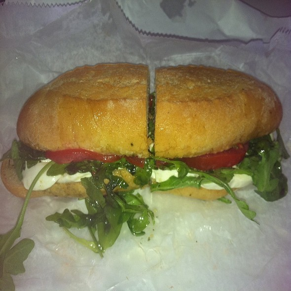 Tomato Arugula Mozzarella Deliciousness @ Mozzarella Fella