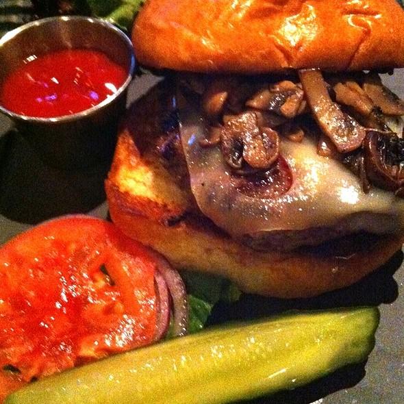Mushroom & Swiss Burger @ Slate Bar & Grill
