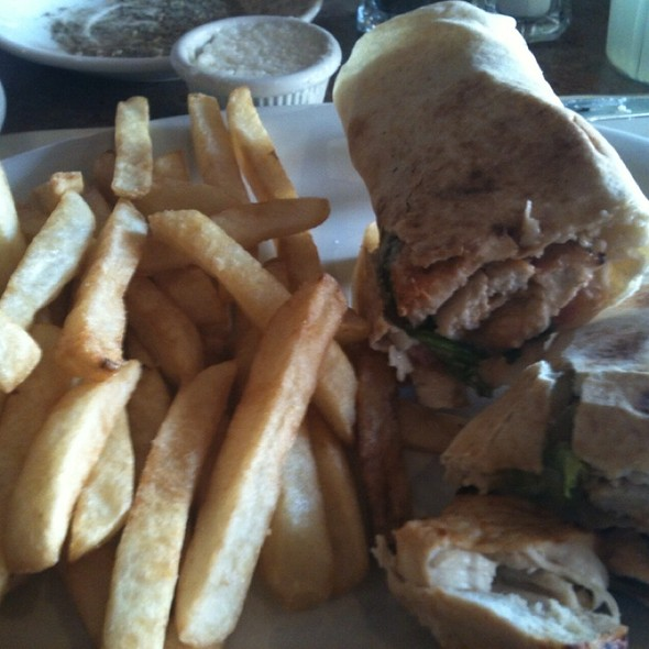 Shish Tawook Sandwich With Fries - Shishka Lebanese Grill, Pompano Beach, FL