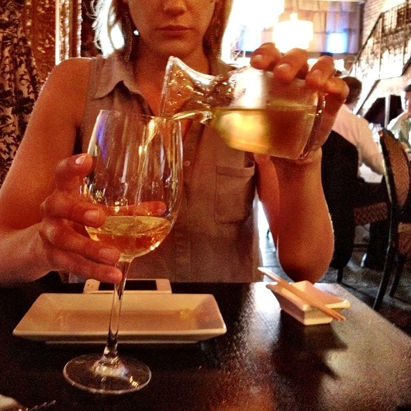 Chardonnay W/Our Executive Lunch - Teak on the Hudson, Hoboken, NJ
