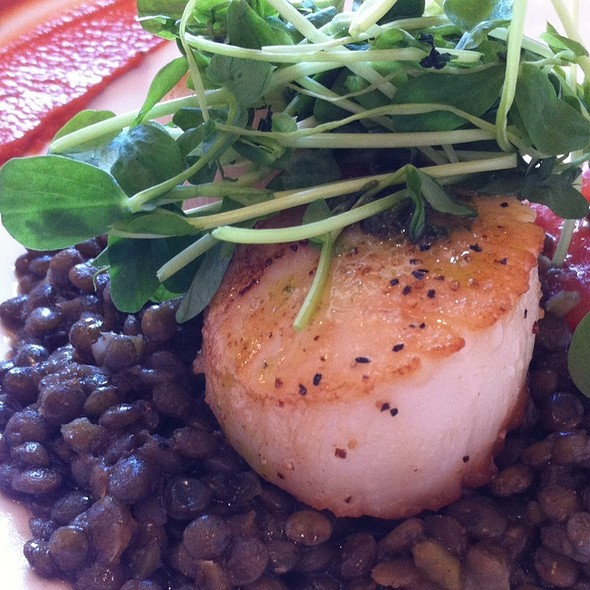 Honey Basil Scallops @ Miel