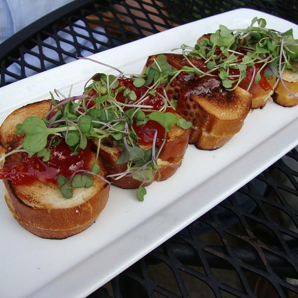 Mini Grilled Goat Cheese Sandwiches w/ Tomato Jam - The Tasting Room - Uptown Park, Houston, TX