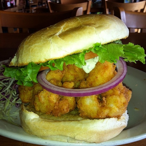 Fried Shrimp Sandwich @ Bubba's Seafood Restaurant and Crabhouse