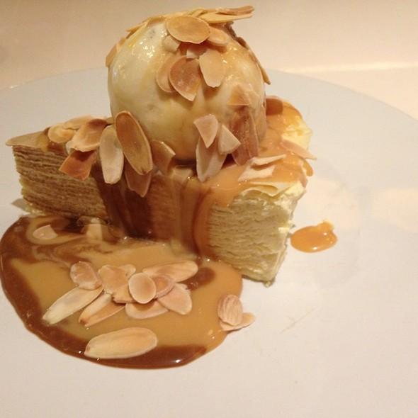 Almond Mille Crepe @ Pancious Pancake
