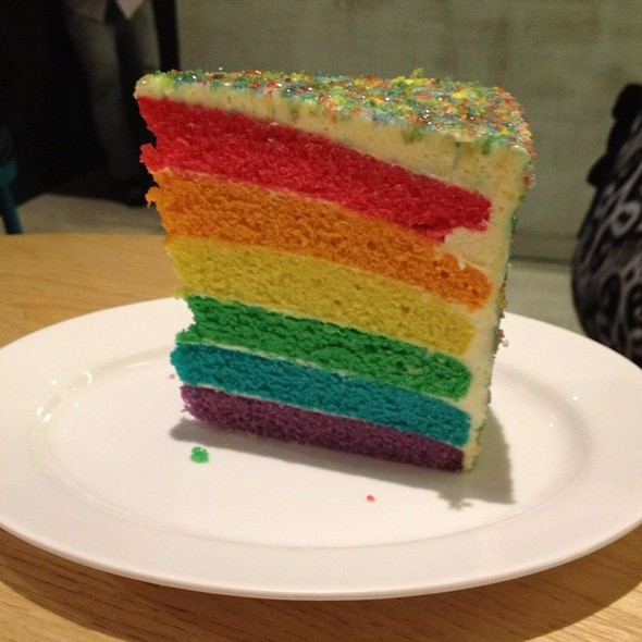 Rainbow cake @ The Goods Cafe