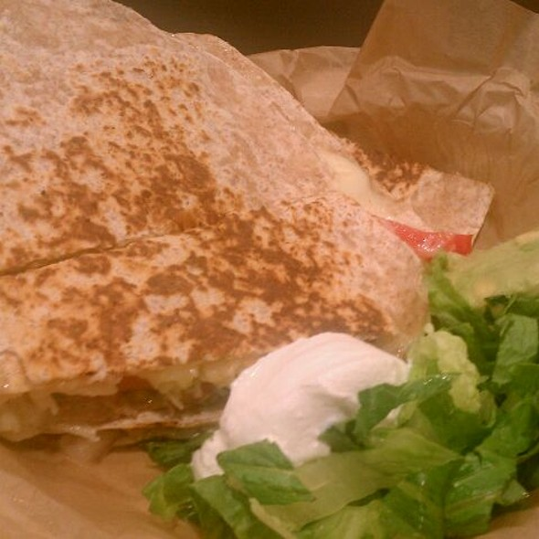 Pulled Pork Quesadilla @ Qdoba Mexican Grill