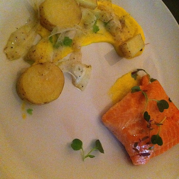 Poached Ocean Trout At Eden Dining Room Bar