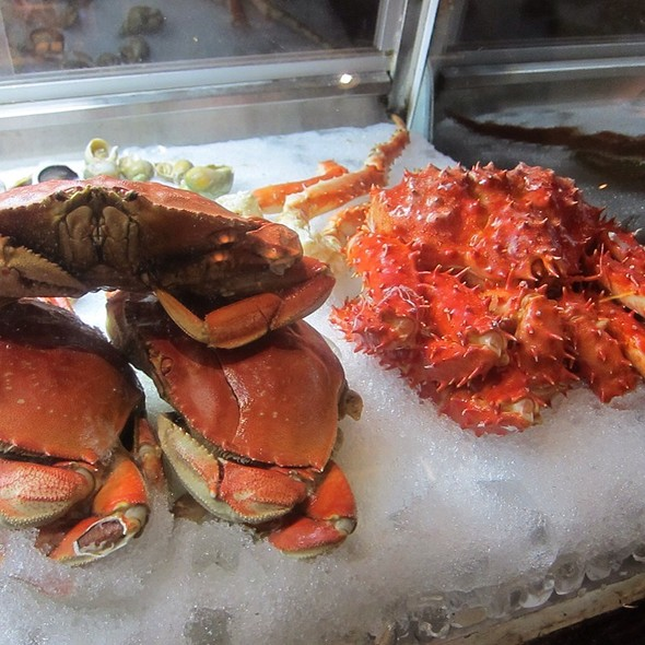 King & Dungeness Crabs