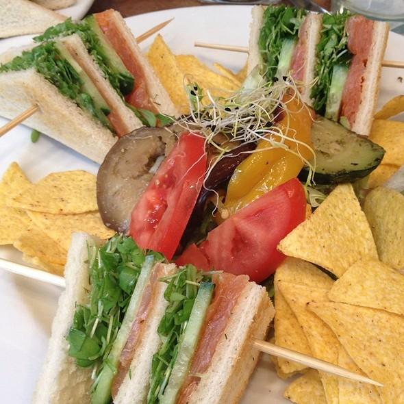Salmon Club Sandwich @ Tea & Eat