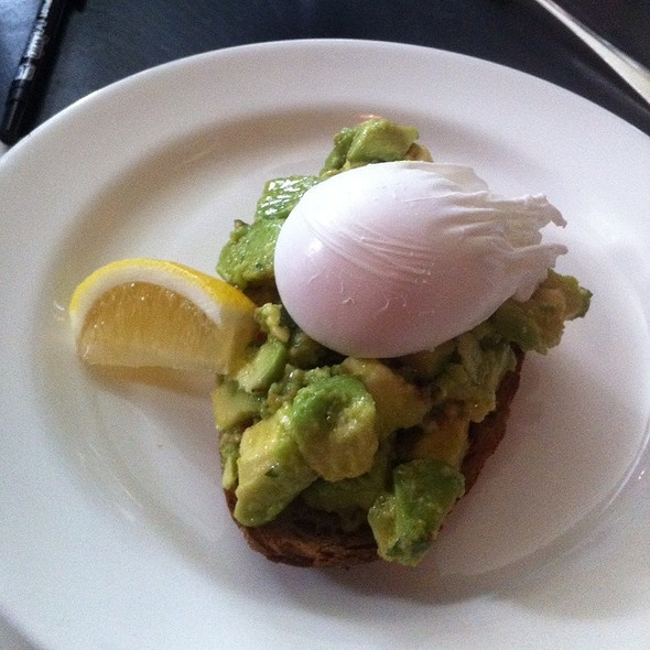 Poached Egg Avocado On Toast @ Dean Street Townhouse