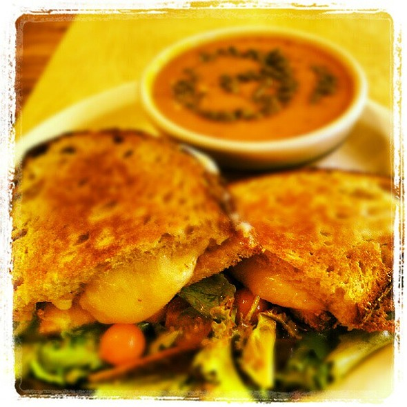 Fancy Grilled Cheese at Just Ripe ¦ - Apple onion marmalade & cheddar, grilled on sourdough @ Just Ripe