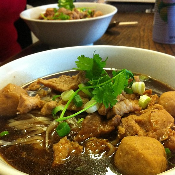 Pork and noodle broth @ Unithai  oriental market